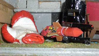 Fauteuil gant de boxe en ciment et chaise fus e - Fauteuil gant de boxe ...